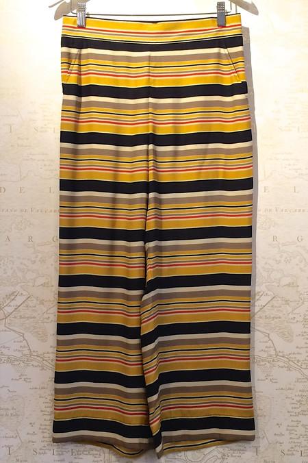 The Great Bolero Stripe Silk Easy Crop Pant