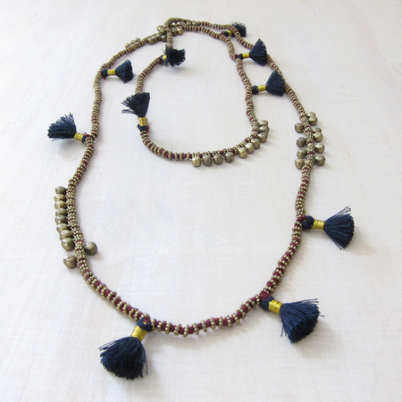 Bluma Project Farah necklace - wine