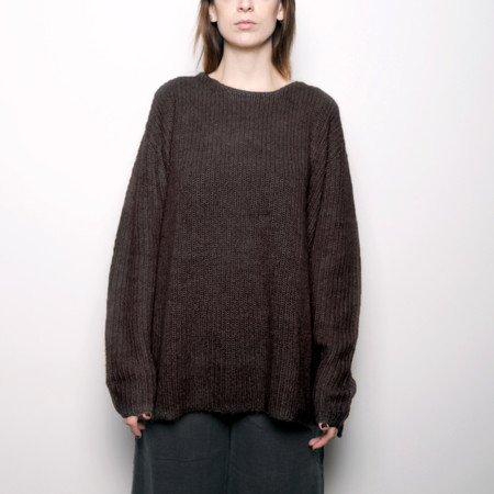 7115 by Szeki Mohair Pullover Sweater - Molasses FW16