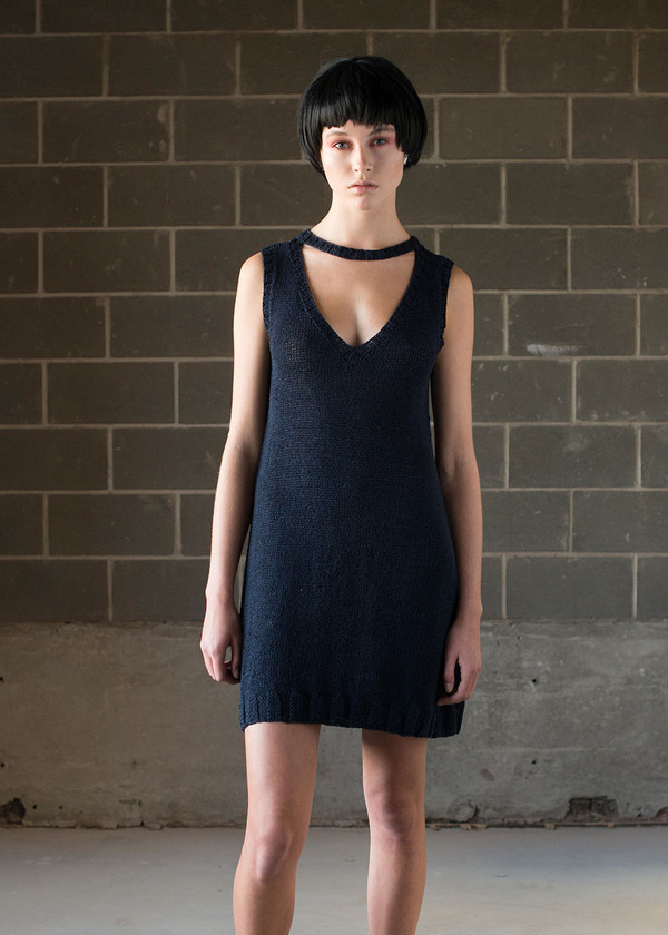 Malorie Urbanovitch Hand Knit Cutout Dress