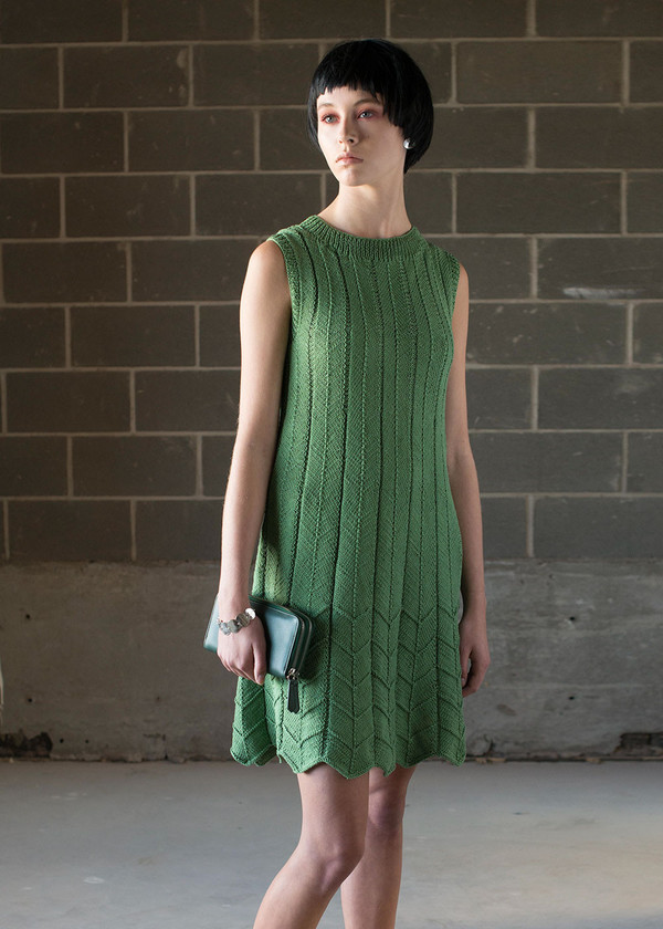 Malorie Urbanovitch Hand Knit Pleat Dress