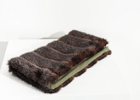 Harvey Faircloth Faux Fur Clutch in Sable