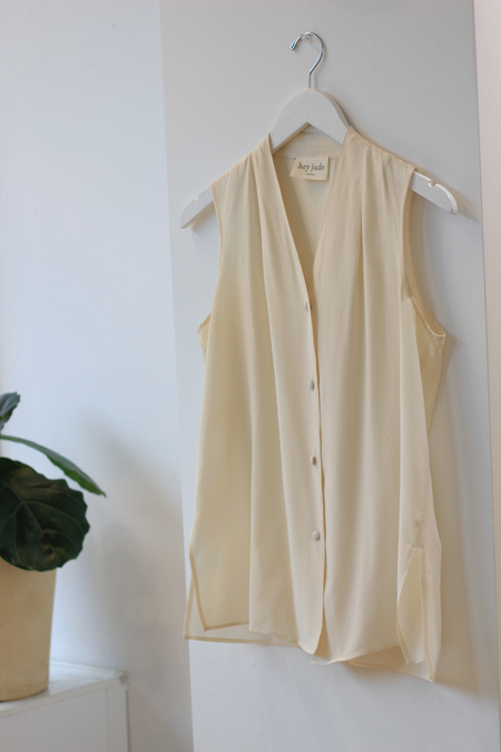Hey Jude Vintage Ivory Silk Top