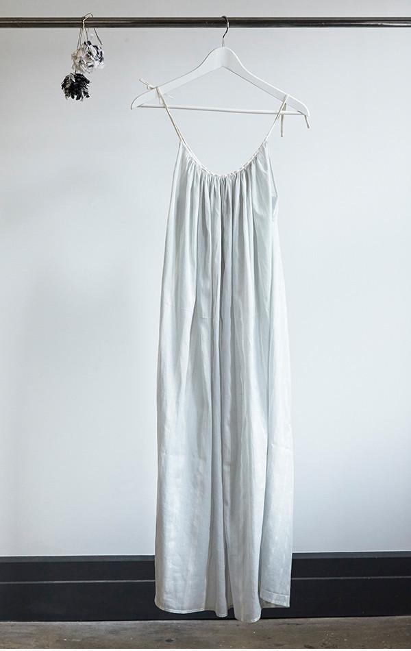 Two New York Gray stripe column dress