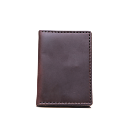 Wood & Faulk Dark Brown Traveler Wallet