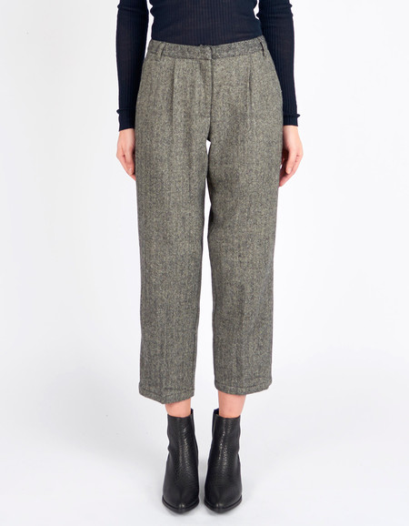 Minimum Birgitta Pant Grey Herringbone