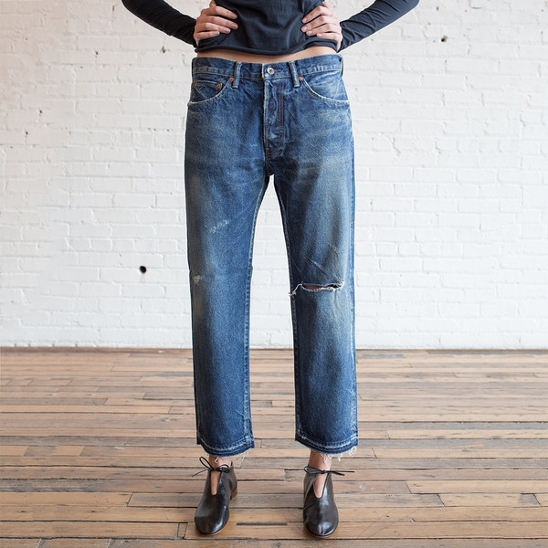 Chimala Used Ankle Cut Jeans Vintage Medium