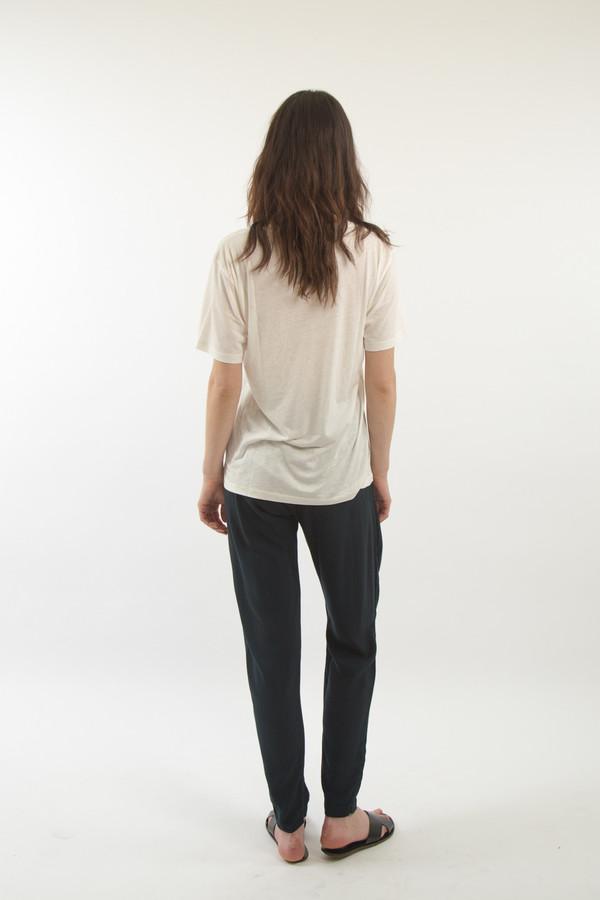 Black Crane Pleats Pant