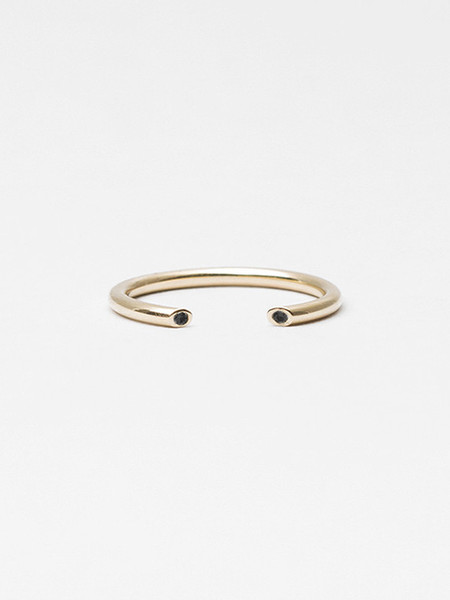 Still House Olva Ring Gold with Black Diamond