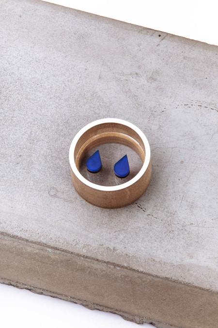 OkiikO Asorti Stud Earrings (Deep Blue Rain Drop)