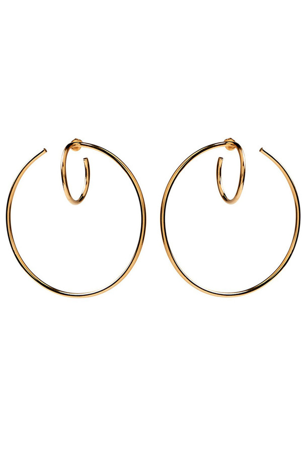 Lady Grey Torsion Hoop Earring (Gold)