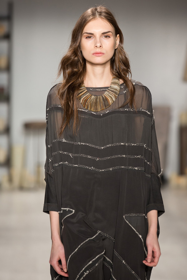 Laura Siegel Graphic Seamed Oversized Kaftan