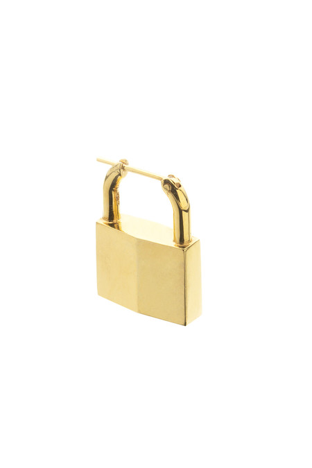 Lauren Klassen Gold Vermeil Single Padlock Earring