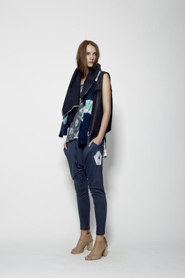 Laura Siegel Leather Drape Vest