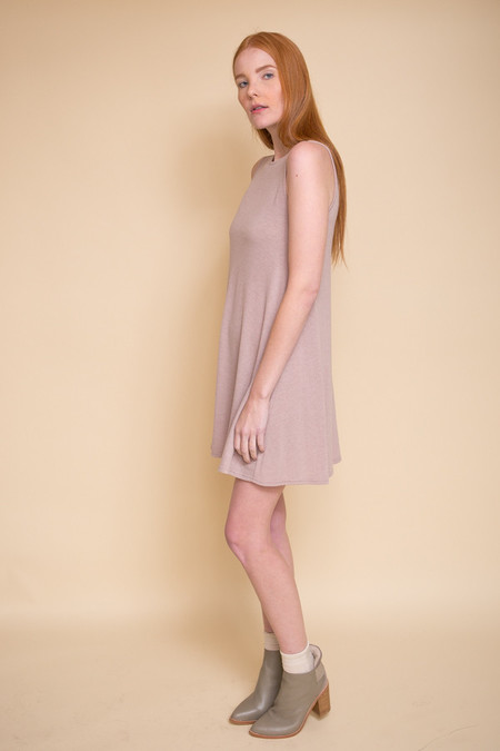 BLQ Basiq Hacci Swing Dress - Tan