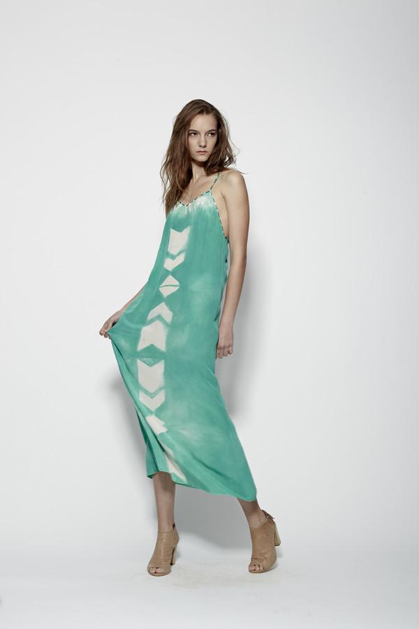 Laura Siegel Silk Dye Thin Strap Maxi