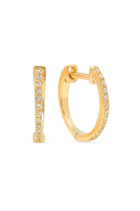 Sachi Jewelry Diamond Hoops
