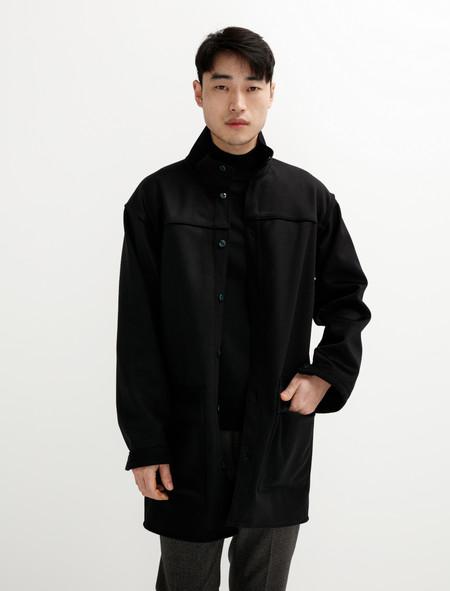 Tender  466 Unlined Slad Coat Black Box Cloth