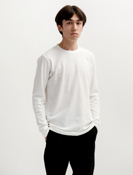 Norse Projects Niels Towelling LS White