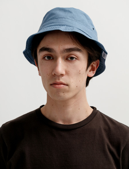 Norse Projects Packable Bucket Hat Light Indigo Melange