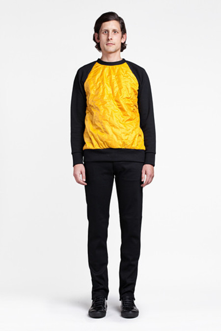Christopher Raeburn Quilted Raglan Black/Yellow