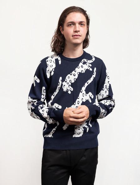 Christopher Raeburn Snow Leopard Sweater Navy