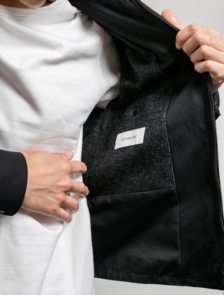 Lemaire Men's Two Pocket Blouson Black