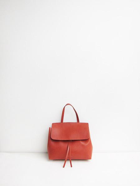 Mansur Gavriel Mini Ladybag, Brandy/Brick