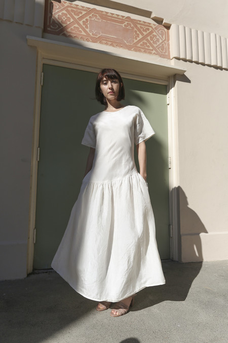 Caron Callahan Bessie Dress in Ivory