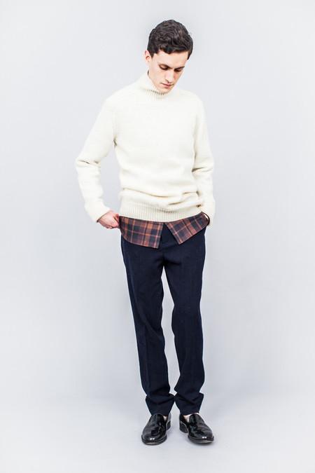 MHL Saddle Sleeve Roll Neck British Wool Ecru