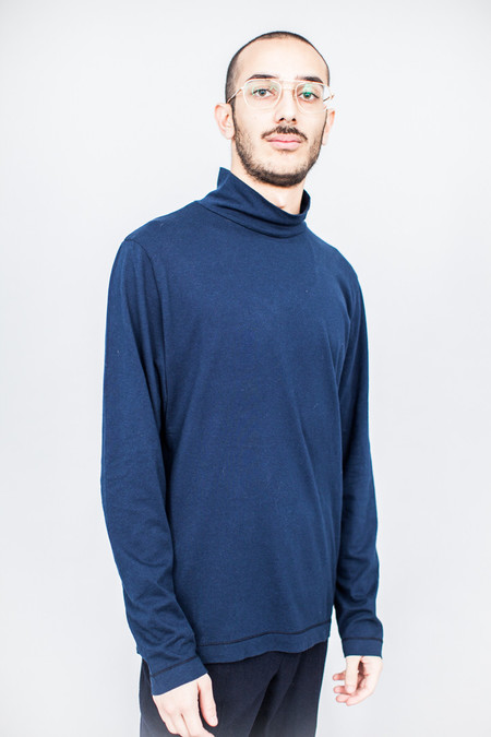 Our Legacy Turtleneck Blue Army Jersey