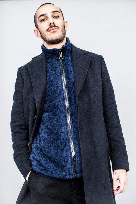 Our Legacy Unconstructed Classic Coat Black Peeled Flannel