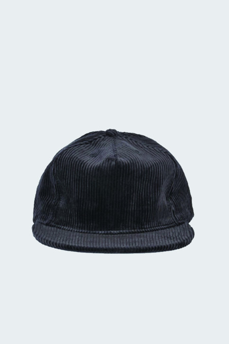 paa Wide Wale Corudroy Pleat Cap Black