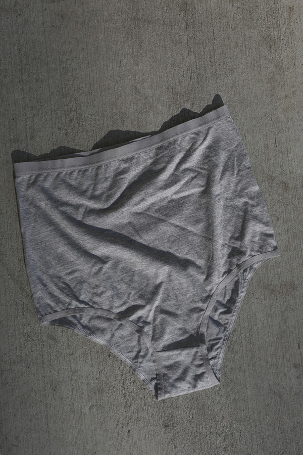 Baserange High Waist Underwear in Grey Melange
