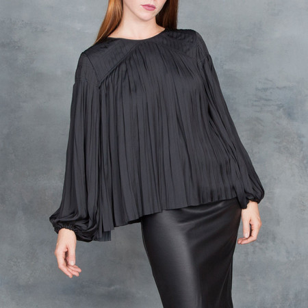 Ulla Johnson Pavia Blouse in Black Raven