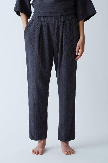 Black Crane Quilted Pant - Dark
