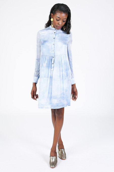 Raquel Allegra Empire Shirt Dress in Sky