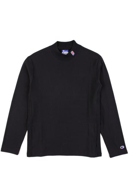 Men's Champion High Neck T-shirt Black