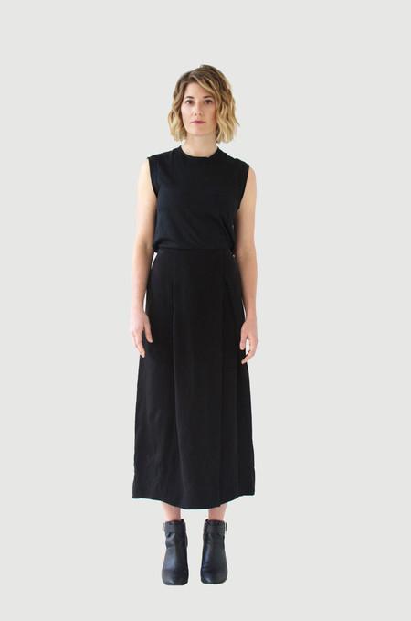 UNIFORME Acevedo Skirt - Black Washed Silk