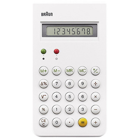 BRAUN CALCULATOR / WHITE