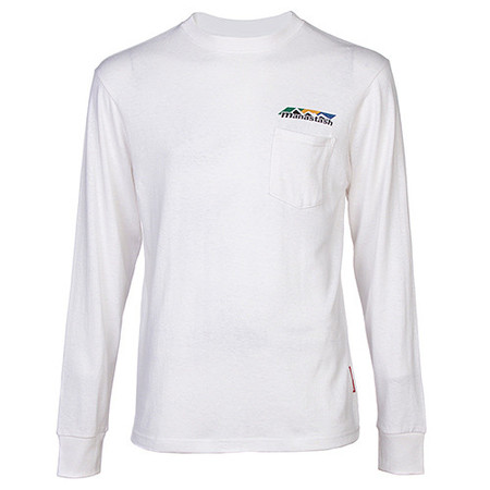 MANASTASH TRI-BLEND HEMP POCKET LS T-SHIRT / WHITE