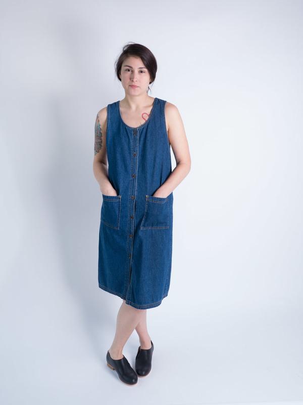 DUO NYC Vintage Denim Tank Dress