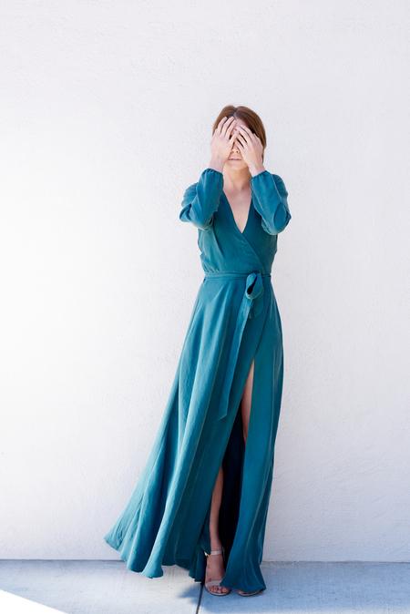 Kamperett - Linden Silk Wrap Dress