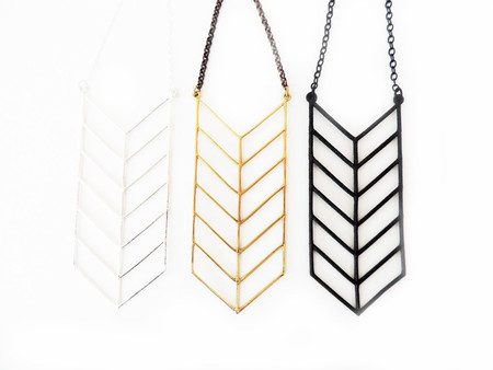 White Feather Designs Chevron Stack Necklace