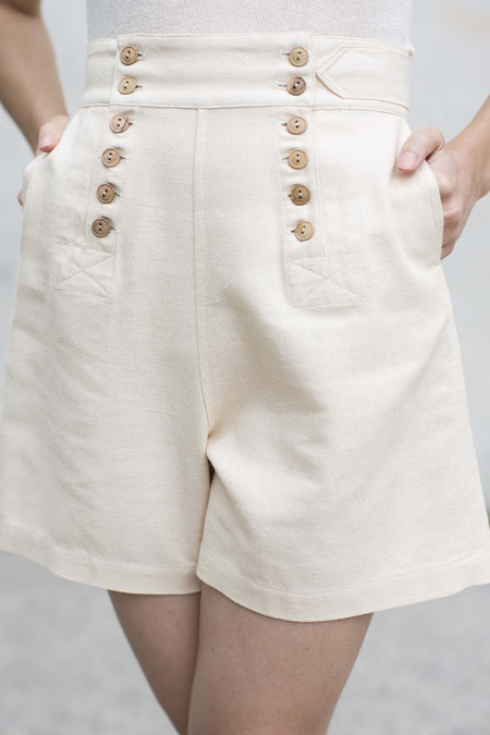Electric Feathers Bermuda Sailor Short in Nougat