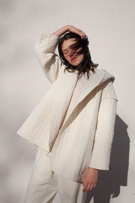 Lauren Manoogian Kendo Coat in Bone