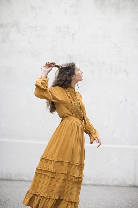 Ulla Johnson Leonora Skirt in Goldenrod