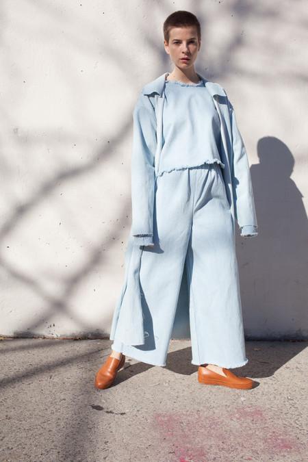 Ashley Rowe Long Pant in Super Light Denim