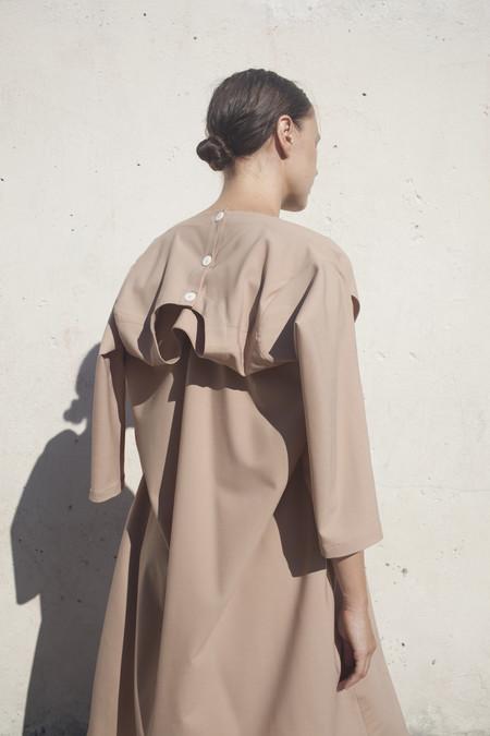 Nancy Stella Soto Long Sleeve Dress in Bare