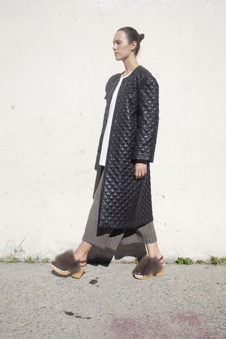 A Détacher Quilted Catalina Coat in Black